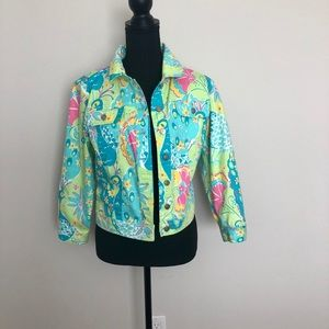 Lilly Pulitzer colorful jean-style jacket